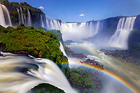 Iguazu Falls and the Devils Throat, Iguazu National Park, Brazil