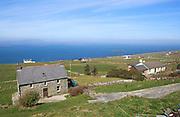 Houses along the west coast of Cape Clear Island, County Cork, Ireland, Irish Republic