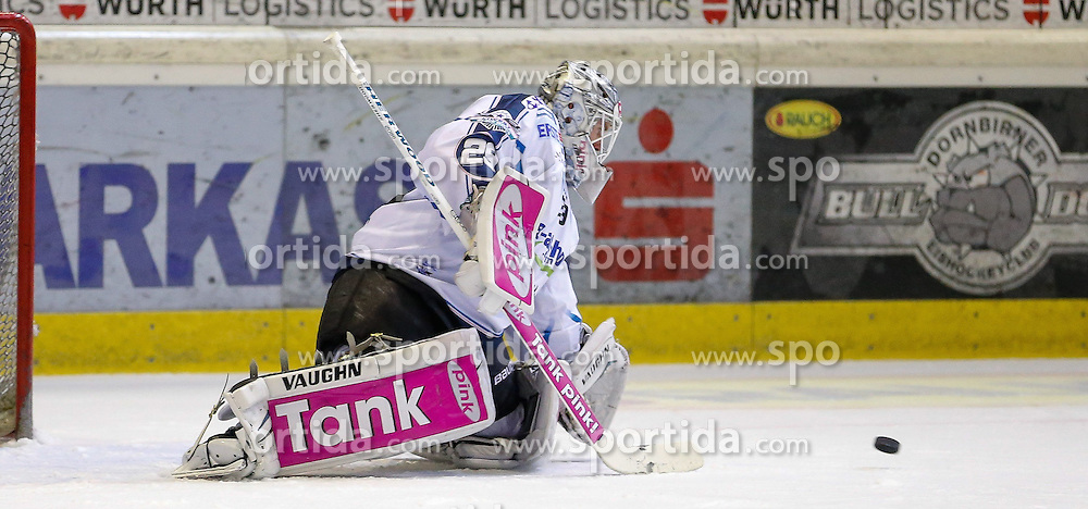 28.09.2014, Messestadion, Dornbirn, AUT, EBEL, Dornbirner EC vs EHC Liwest Black Wings Linz, 6.Runde, im Bild Michael Ouzas, (EHC Liwest Black Wings Linz, #29)// during the Erste Bank Icehockey League 6th round match between Dornbirner EC and EHC Liwest Black Wings Linz at the Messestadion in Dornbirn, Austria on 2014/09/28, EXPA Pictures © 2014, PhotoCredit: EXPA/ Peter Rinderer