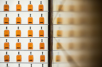 30166675A VERSAILLES, Ky. - Nov. 7, 2014 - Bottles of Woodford Reserve sit on display at Woodford Reserve Distilleries.<br /> <br /> William DeShazer for the New York Times
