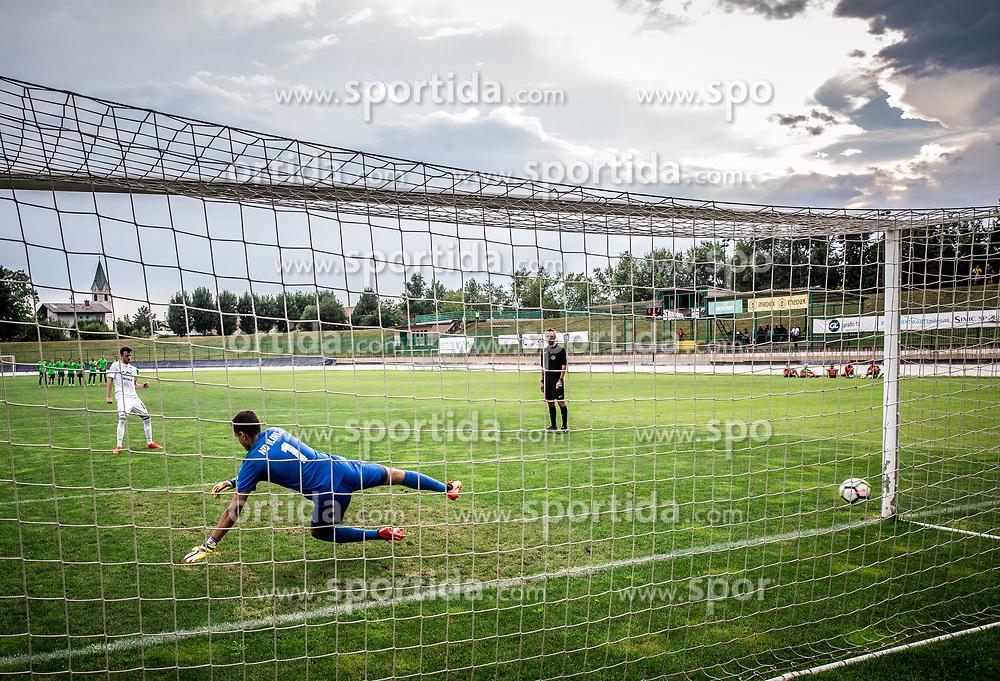 Mateo Barukcic of ND Ilirija at penalty shots during football match between ND Ilirija 1911 and NK Krsko in 1st Round of Slovenian Football Cup 2017/18, on August 16, 2017 in Stadium Ilirija, Ljubljana, Slovenia. Photo by Vid Ponikvar / Sportida