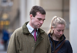 © Licensed to London News Pictures. 21/12/2016. Bristol, UK. PHILIP POTTER (left) arrives at Bristol Crown Court as a defendant in the Tipper truck crash trial. Philip Potter, 20, Matthew Gordon, 30, and Peter Wood, 55 face a total of 14 charges linked to last year's tragedy in Bath, when a runaway tipper truck killed four people and seriously injured two others on Lansdown Lane. Mitzi Steady aged 4 from Bath and Robert Parker, 59, Philip Allen, 52, and Stephen Vaughan, 34, who lived in Wales, lost their lives in the fatal collision. Mitzi's grandmother Margaret Rogers and another woman, Karla Brennan, were seriously injured. Photo credit : Simon Chapman/LNP