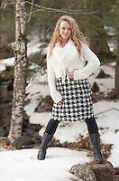 Winter portrait session with Olivia Testa.  ©2014 Karen Bobotas Photographer