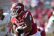 FAYETTEVILLE, AR - OCTOBER 25:  Kody Walker #24 of the Arkansas Razorbacks runs the ball against the UAB Blazers at Razorback Stadium on October 25, 2014 in Fayetteville, Arkansas.  The Razorbacks defeated the Blazers 45-17.  (Photo by Wesley Hitt/Getty Images) *** Local Caption *** Kody Walker