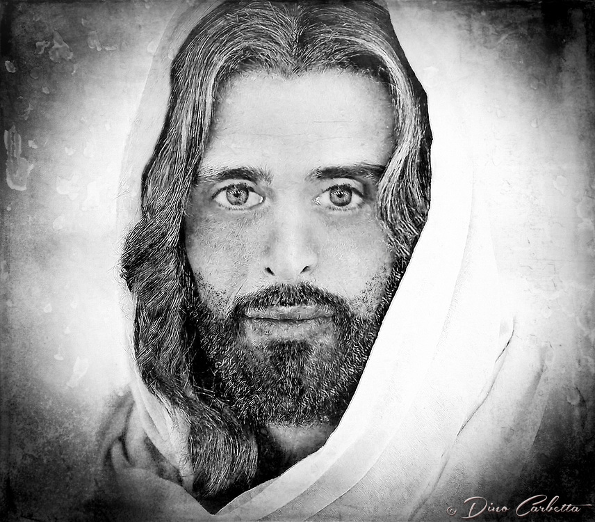 """""""A million faces of Jesus by Dino Carbetta - Silver""""...<br /> <br /> Daniel 10: 5-6 """"As I looked up, I saw a man dressed in linen with a belt of fine gold around his waist. His body was like chrysolite, his face shone like lightning, his eyes were like fiery torches, his arms and feet looked like burnished bronze, and the sound of his voice was like the roar of a multitude."""" Genesis 1:27 """"God created mankind in his image; in the image of God he created them; male and female he created them."""" Since early childhood my fascination with the face of Christ resulted in a multitude of sketches, drawings, and photographs. Today, my mind's eye continues this perception in wonderment. I yearn to see, feel and touch this beatific vision.  Blessed with humble skills, this is my current vision after three years of introspection and change of the face of Christ. I know that in heaven the just will see God by direct intuition, clearly and distinctly. Scripture and theology tell us that the blessed see God face to face. And because this vision is immediate and direct, it is also exceedingly clear and distinct. The blessed see God, not merely according to the measure of His likeness imperfectly reflected in creation, but they see Him as He is, after the manner of His own Being. 1 Corinthians 13:12 """"At present, we are looking at a confused reflection in a mirror; then, we shall see face to face; now, I have only glimpses of knowledge; then, I shall recognize God as he has recognized me."""""""