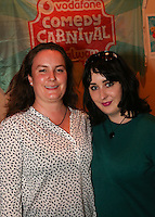 repro free: Vodafone Comedy Carnival : <br /> <br /> Pictured at the launch of the Vodafone Comedy Carnival in the Roisin Dubh were, Lauren Dolan,  Knocknacarra and Lisa Marie Barrett, Salthill . The 2016 Vodafone Comedy Carnival runs as part of Vodafone&rsquo;s Centre Stage and is sure to fill the &lsquo;Eyre&rsquo; with laughter with performances from international and home grown comedians over the October bank holiday weekend (25th to 31st of October). Shows will take place in multiple venues across the city, including the brand new venue &lsquo;The Red Box&rsquo; at Eyre Square. Tickets on sale from Monday 29th August. For more for info go to  HYPERLINK &quot;http://www.vodafonecomedycarnival.com&quot; www.vodafonecomedycarnival.com&nbsp; <br /> Photo: xposure.