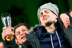 Matevz Skok crying during reception of Slovenian National Handball Men team after they placed third at IHF World Handball Championship France 2017, on January 30, 2017 in Mestni trg, Ljubljana centre, Slovenia. Photo by Vid Ponikvar / Sportida
