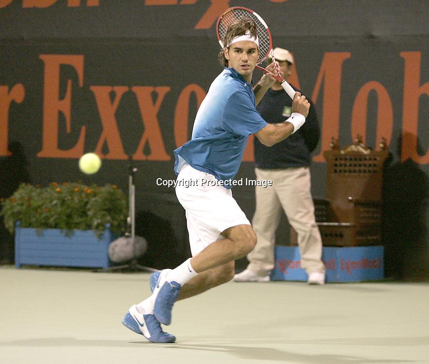 Qatar, Doha, ATP Tennis Turnier Qatar Open 2005, Roger Federer (SUI), 07.01.2005,<br /> Foto: Juergen Hasenkopf