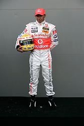 Melbourne. Australia - Thursday, March 15, 2007: Lewis Hamilton (GBR, Vodafone McLaren Mercedes) at the opening Grand Prix of the Formula One World Championship in Australia.(Pic by Michael Kunkel/Propaganda/Hoch Zwei)