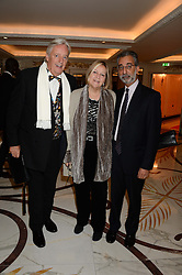Left to right, MICHAEL MANSFIELD QC, his wife YVETTE VANSON and lawyer IMRAN KHAN at the inaugural Stephen Lawrence Memorial Ball held at The Dorchester, Park Lane, London on 17th October 2013.