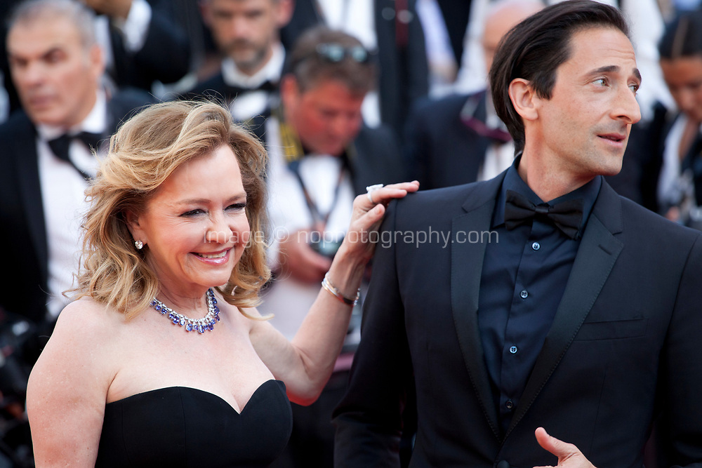 Caroline Scheufele, Co President and Artistic Director of Chopard, and actor Adrien Brody arriving to the Closing Ceremony and awards at the 70th Cannes Film Festival Sunday 28th May 2017, Cannes, France. Photo credit: Doreen Kennedy