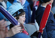 A Sussex Sharks fan during the NatWest T20 Blast South Group match between Sussex County Cricket Club and Middlesex County Cricket Club at the BrightonandHoveJobs.com County Ground, Hove, United Kingdom on 29 May 2015. Photo by Bennett Dean.