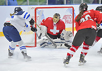 DMITROV, RUSSIA - JANUARY 7: Switzerland vs Finland preliminary round 2018 IIHF Ice Hockey U18 Women's World Championship. (Photo by Steve Kingsman/HHOF-IIHF Images)
