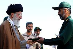 Iran's supreme leader, Ayatollah Ali Khamenei attends a ceremony at the Emam Hossein university, in Tehran, Iran on May 10, 2017. Photo by ParsPix/ABACAPRESS.COM