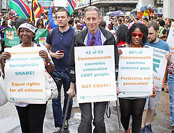 © Licensed to London News Pictures. 28/06/2014. London, UK Peter Tatchell, Pride in London 2014, London UK, 28 June 2014. Photo credit : Brett D Cove/piQtured/LNP
