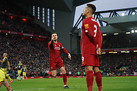 Football - 2019 / 2020 Premier League - Liverpool vs. Southampton<br /> <br /> Liverpool's Jordan Henderson celebrates scoring his sides second goal <br /> <br /> Colorsport / Terry Donnelly