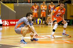 20141029 BEL: Eredivisie, Callant Antwerpen - Volley Behappy2 Asse - Lennik: Antwerpen<br />Dirk Sparidans (7) of Volley behappy2 Asse - Lennik, Robbert Andringa (6) of Volley behappy2 Asse - Lennik<br />©2014-FotoHoogendoorn.nl / Pim Waslander