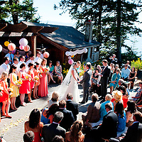 Travis and Amy's Vancouver Island wedding ceremony in Sooke, British Columbia.