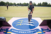 Middlesex all-rounder James Franklin leaves ahead of the NatWest T20 Blast South Group match between Middlesex County Cricket Club and Hampshire County Cricket Club at Uxbridge Cricket Ground, Uxbridge, United Kingdom on 27 May 2016. Photo by David Vokes.