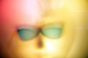 strange abstract face wearing sunglasses