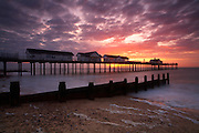 Great Britain England Suffolk Southwold Pier Sunrise Morning