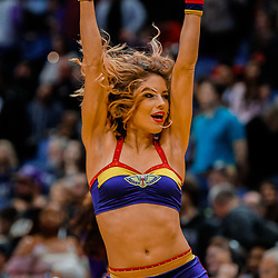 Jan 28, 2018; New Orleans, LA, USA; New Orleans Pelicans dance team performs during the fourth quarter against the LA Clippers at the Smoothie King Center. The Clippers defeated the Pelicans 112-103. Mandatory Credit: Derick E. Hingle-USA TODAY Sports