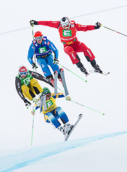 25.01.2014, Kreischberg, St. Georgen, AUT, FIS Weltcup Ski Cross, im Bild v.l. Paul Eckert (GER), Michael Forslund (SWE), Johannes Rohrweck (AUT), Alex Fiva (SUI) // f.l. Paul Eckert of Germany, Michael Forslund of Sweden, Johannes Rohrweck of Austria, Alex Fiva of Switzerland during the FIS Ski Cross World Cup at the Kreischberg in St. Georgen, Austria on 2014/01/25. EXPA Pictures © 2014, PhotoCredit: EXPA/ Johann Groder