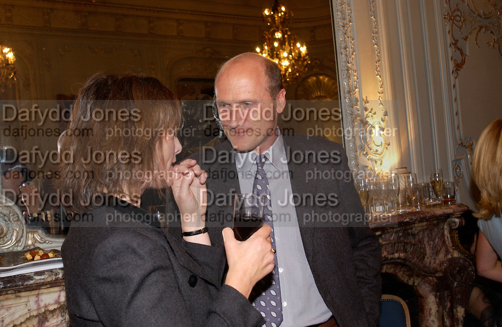 Natasha Fraser and the Marquess of Normanby, Flora Fraser launch party for her book ' Princesses the Daughters of George 111' the Savile club, Brook St. 14 September 2004. SUPPLIED FOR ONE-TIME USE ONLY-DO NOT ARCHIVE. © Copyright Photograph by Dafydd Jones 66 Stockwell Park Rd. London SW9 0DA Tel 020 7733 0108 www.dafjones.com