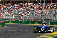 NASR felipe (bra) sauber f1 c34 action  during 2015 Formula 1 championship at Melbourne, Australia Grand Prix, from March 13th to 15th. Photo DPPI / Frederic Le Floch.