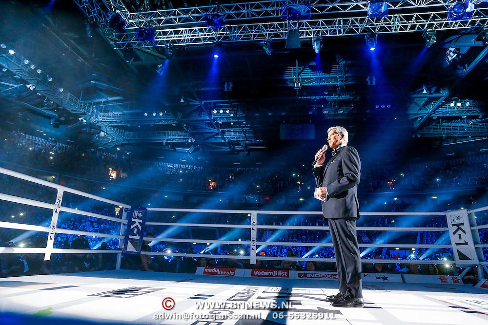 CRO/Zagreb/20130315- K1 WGP Finale Zagreb, scheidsrechter Miceal Buffet