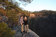 Danielle and Jonathan Palmer Auxier Ridge hike, Tuesday, Feb. 28, 2012 at Auxier Ridge Trail in Red River Gorge.