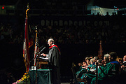 Andy Alexander  delivers the keynote address at Undergraduate Commencement on Saturday, May 4, 2013. Photo by Ben Siegel