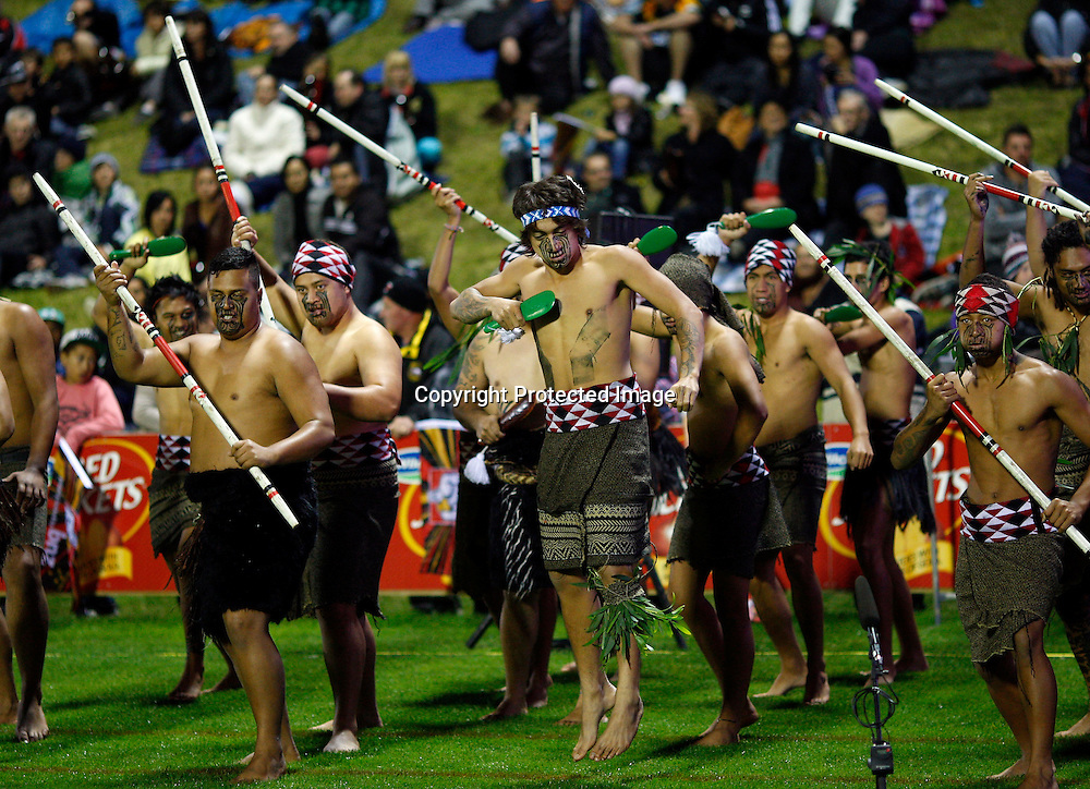 Pre match entertainment. Super 15 Rugby, Chiefs v Lions, Growers Stadium Pukekohe, Saturday 5th May 2012. Photo: Shane Wenzlick / www.photosport.co.nz