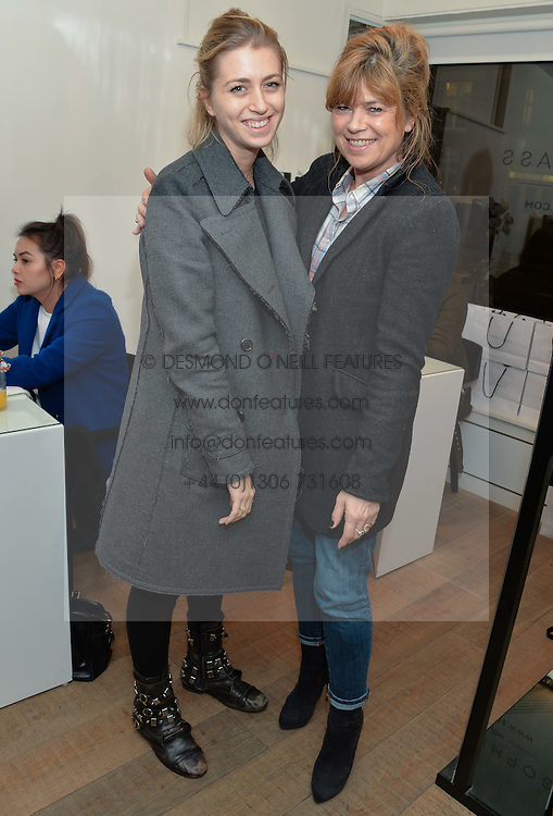 Left to right, INDIA STANDING and her mother SARAH STANDING at a Valentine's charity event to raise heart awareness and support the charity Arrhythmia Alliance held at Sophie Gass, 4 Ladbroke Grove, London on 13th February 2014.