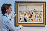 L.S. Lowry, Lytham Pier, 1945, estimate: £700,000-1,000,000 - Christie's preview exhibition of works from its upcoming Modern British & Irish Art Evening Sale, on view to the public from 18-22 November 2017. The auction will take place on 22 November 2017 at Christie's King Street.
