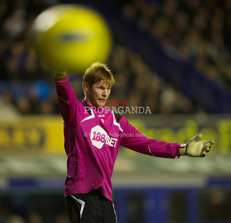 LIVERPOOL, ENGLAND - Wednesday, January 4, 2012: Bolton Wanderers' goalkeeper Adam Bogdan in action against Everton during the Premiership match at Goodison Park. (Pic by David Rawcliffe/Propaganda)