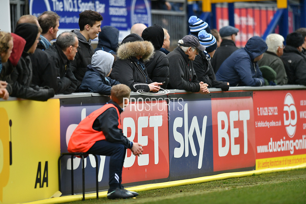 Sky Bet boards at Adams Park during the EFL Sky Bet League 2 match between Wycombe Wanderers and Port Vale at Adams Park, High Wycombe, England on 24 March 2018. Picture by Alistair Wilson.