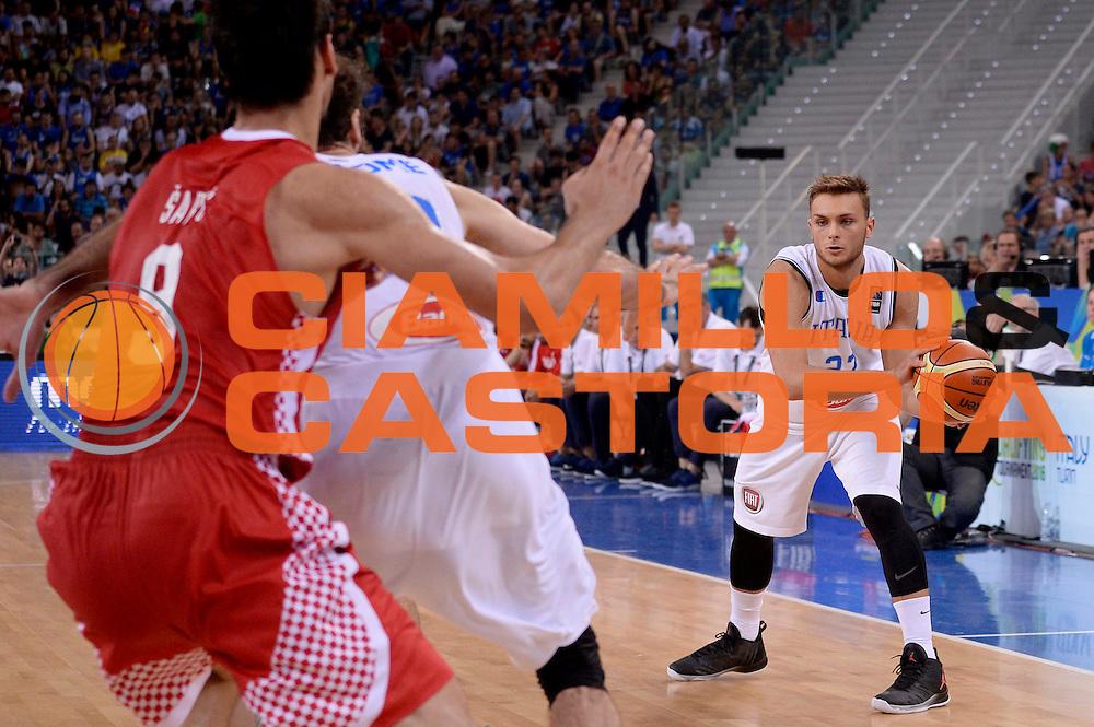 DESCRIZIONE: Torino FIBA Olympic Qualifying Tournament Italia - Croazia<br /> GIOCATORE: Stefano Tout<br /> CATEGORIA: Nazionale Italiana Italia Maschile Senior<br /> GARA: FIBA Olympic Qualifying Tournament Italia - Croazia<br /> DATA: 05/07/2016<br /> AUTORE: Agenzia Ciamillo-Castoria