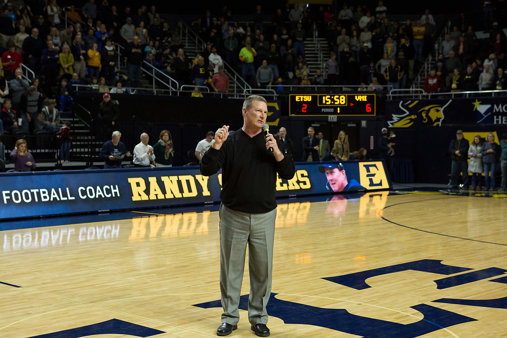 January 13, 2018 - Johnson City, Tennessee - Freedom Hall: ETSU Football head coach Randy Sanders<br /> <br /> Image Credit: Dakota Hamilton/ETSU