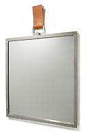 square silver hanging mirror