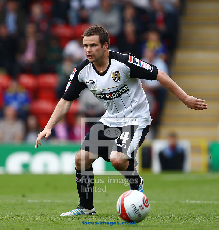 Picture by John Rainford/Focus Images Ltd. 07506 538356.06/04/12.Liam Chilvers of Notts County during the Npower League 1 match at Matchroom stadium, London.