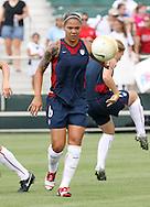 30 July 2006: Natasha Kai (USA) during pregame warmps. The United States Women's National Team defeated Canada 2-0 at SAS Stadium in Cary, North Carolina in an international friendly soccer match.