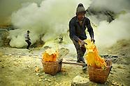Kawah Ijen - Sulfur miners of Ijen crater