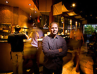 Steve Cook is a restaurateur and has opened multiple restaurants in Philadelphia, including Zahav, Marigold Cafe and Xochitl. He was pictured at Zahav on Sept. 22, 2008.