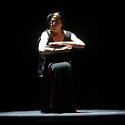 London, UK. 15 Feb 2018. Photocall for María Pagés Compañía. The opening night of Flamenco Festival London 2018 at Sadler's Wells Theatre.