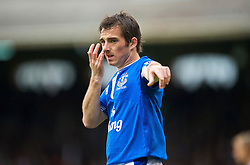 LONDON, ENGLAND - Sunday, September 13, 2009: Everton's Leighton Baines during the Premiership match against Fulham at Craven Cottage. (Photo by David Rawcliffe/Propaganda)