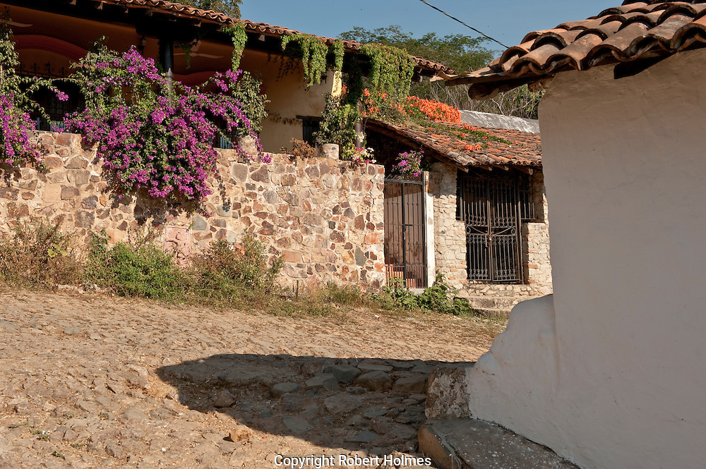 A village in the Sierra Madre mountains, Mexico