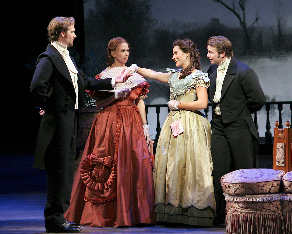 Little Women.From left:.Jim Weitzer, Sutton Foster, Jenny Powers, .Danny Gurwin.October 12, 2004.Credit Photo ©Paul Kolnik.NYC