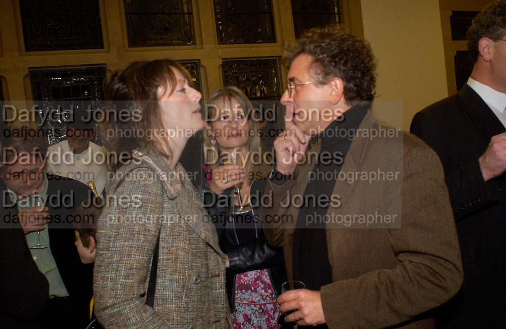 Rebecca Fraser, Lady Jane Wellesley and Alan  Jenkins'Feast Food that celebrates Life' by Nigella Lawson- book launch. Cadogan Hall, Sloane Terace. 11 October 2004. ONE TIME USE ONLY - DO NOT ARCHIVE  © Copyright Photograph by Dafydd Jones 66 Stockwell Park Rd. London SW9 0DA Tel 020 7733 0108 www.dafjones.com