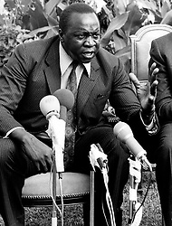 Mar 07, 1973; Kampala, Uganda; The former dictatorial leader of Uganda from 1971-1979, IDI AMIN DADA, has been called 'One of the most batshit loco leaders ever to seize control of a chaotic African nation.' Amin rounded up the military leaders that did not support his coup, murdered them, decapitated them and sat their disembodied heads around the presidential dining table, scolding them for not supporting him, and taking bites of their flesh.' (Credit Image: © Keystone Press Agency/Keystone USA via ZUMAPRESS.com)